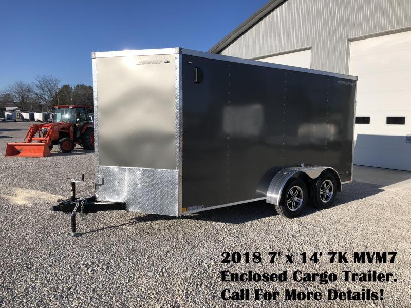 2018 7x14 7K MVM7 Enclosed Cargo Trailer. 1161