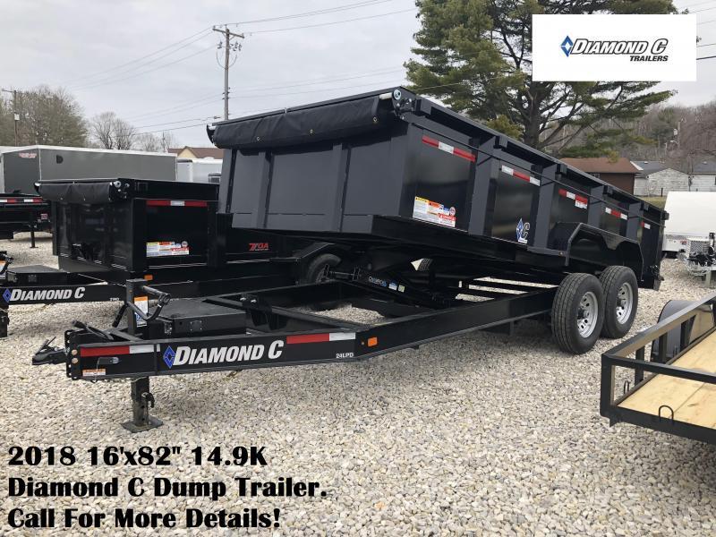 """2018 16'x82"""" 14.9K Diamond C Dump Trailer. 98336"""