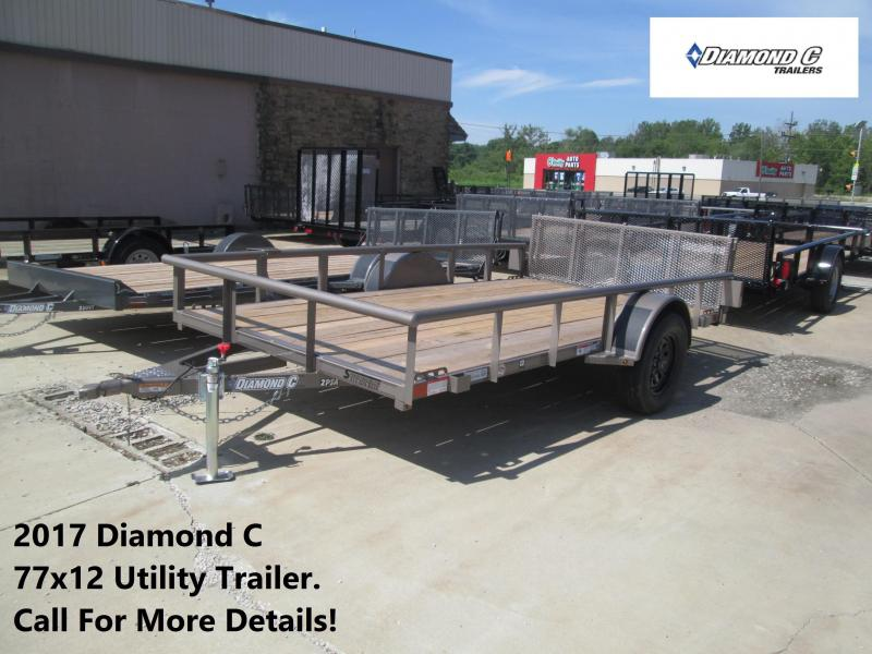 2017 77x12 Diamond C Utility Trailer. 89081