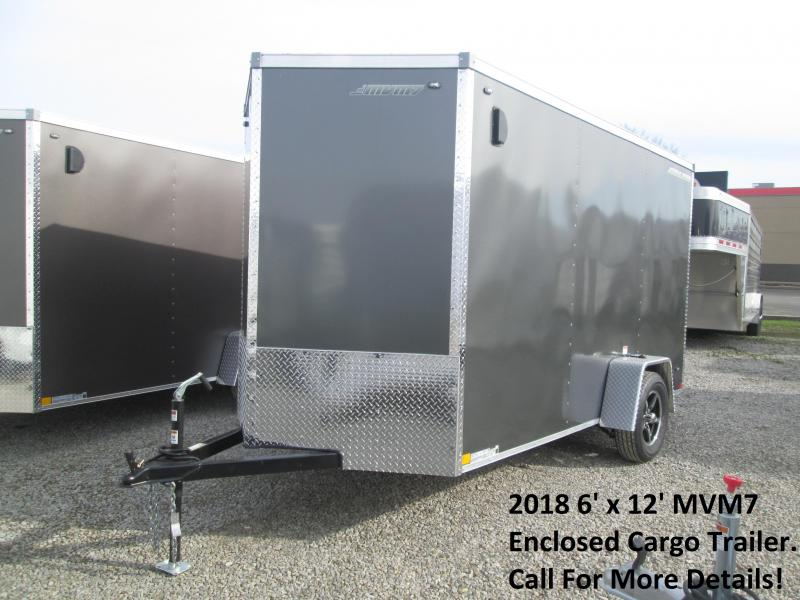 2018 6' x 12' MVM7 Enclosed Cargo Trailer. 995