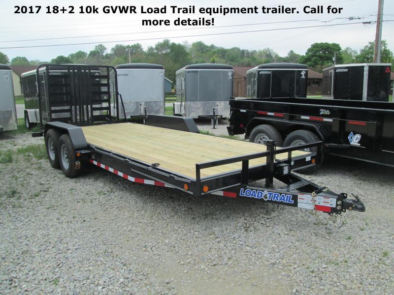 2017 18+2 10k GVWR Load Trail Equipment Trailer. 35025