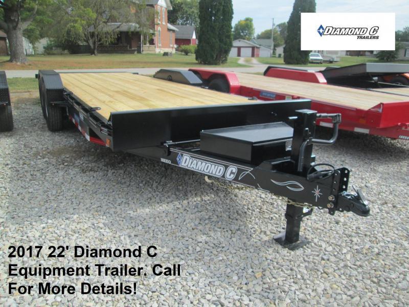 2017 22' 14900lb GVWR Diamond C Equipment Trailer. 93119