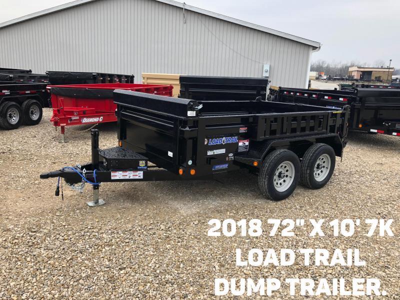 "2018 72"" x 10' 7K Load Trail Dump Trailer. 53303"