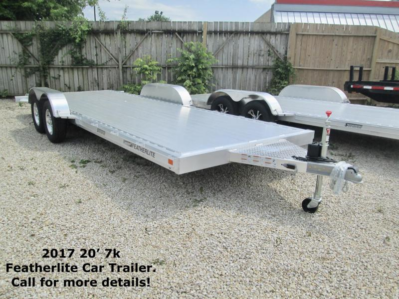 2017 20' 7k Featherlite Car Trailer. 146516