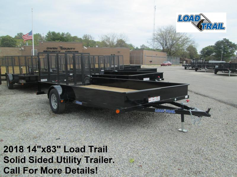 "2018 14""x83"" Load Trail Solid Sided Utility Trailer. 48296"