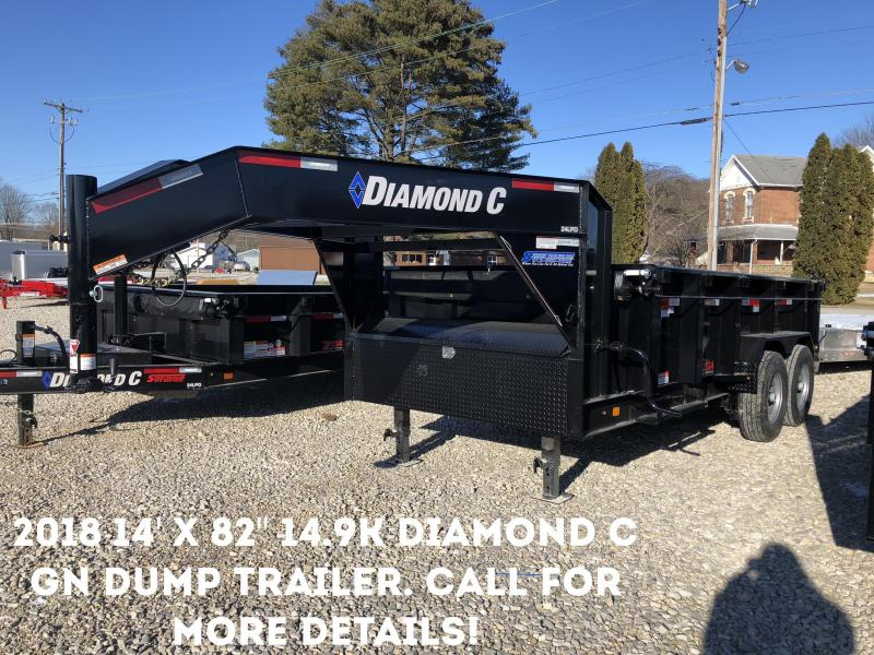 """2018 14' x 82"""" 14.9k Diamond C GN Dump Trailer. 96883"""