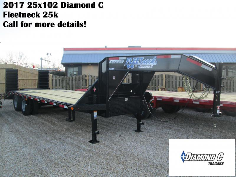 2017 25x102 25k Diamond C Equipment Trailer with center pop up.  83469