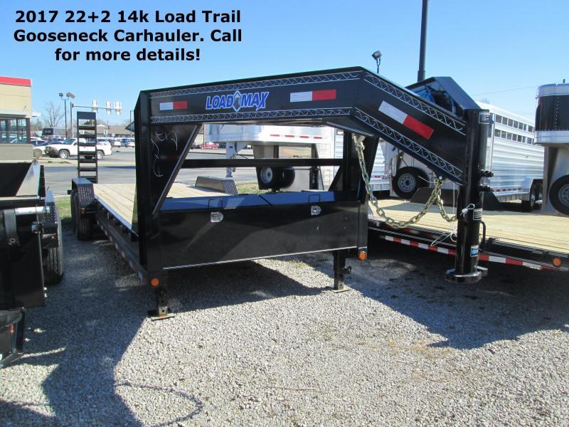 2017 22+2 14k Load Trail Gooseneck Carhauler. 30220