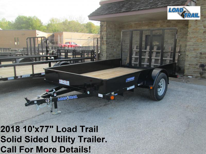 "2018 10'x77"" Load Trail Solid Sided Utility Trailer. 46560"