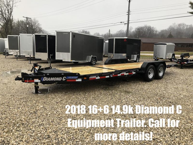 2018 16+6 14900lb GVWR Diamond C Equipment Trailer. 96733