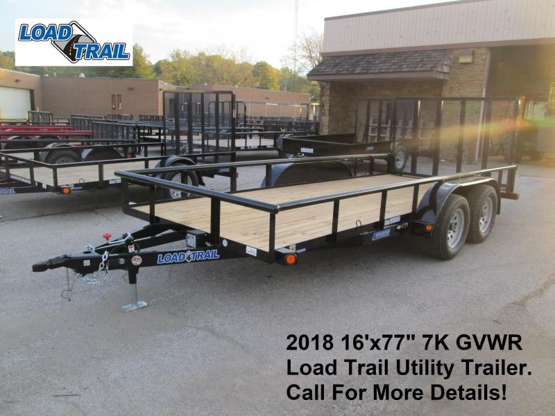 "2018 16'x77"" 7K GVWR Load Trail Utility Trailer. 48298"