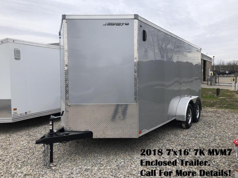 2018 7'x16' 7K MVM7 Enclosed Trailer. 1280