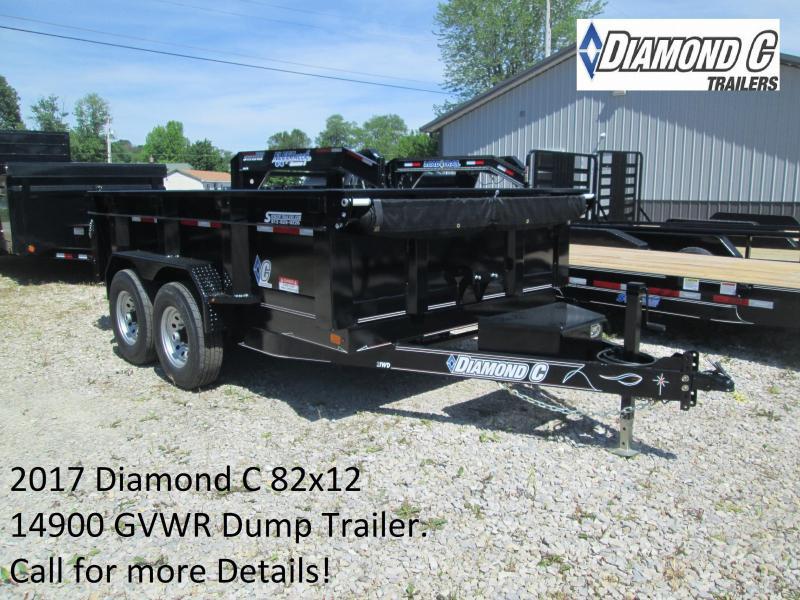 2017 82x12 14900 GVWR Diamond C Dump Trailer. 88155