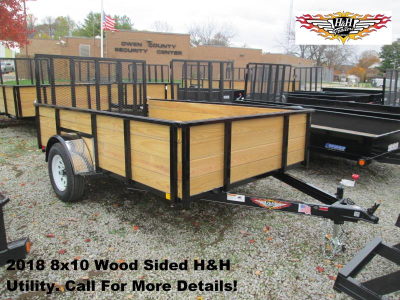 2018 8' x 10' Wood Sided H&H Utility. 76527