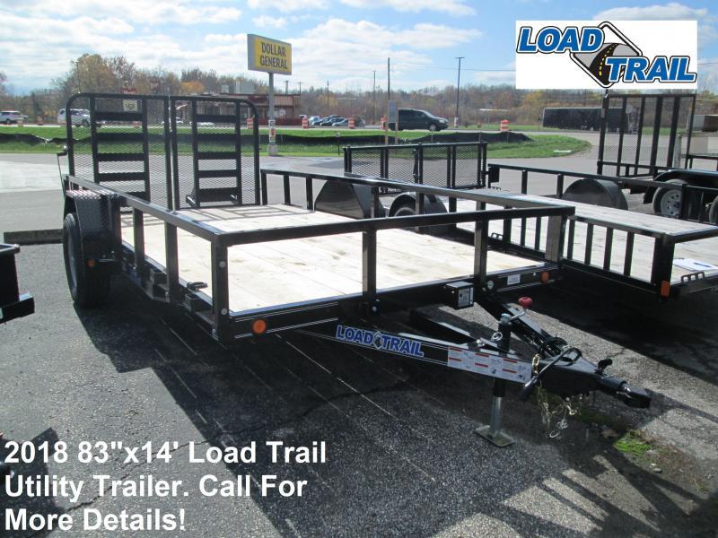 "2018 83"" x 12'+2' 5.2K Load Trail Utility Trailer. 48808"