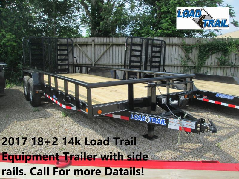 2017 18+2 14k Load Trail Equipment Trailer with side rails. 38912