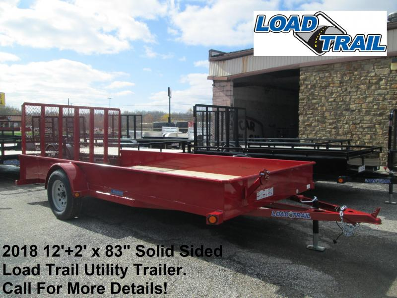 "2018 12'+2' x 83"" Solid Sided Load Trail Utility Trailer. 50355"