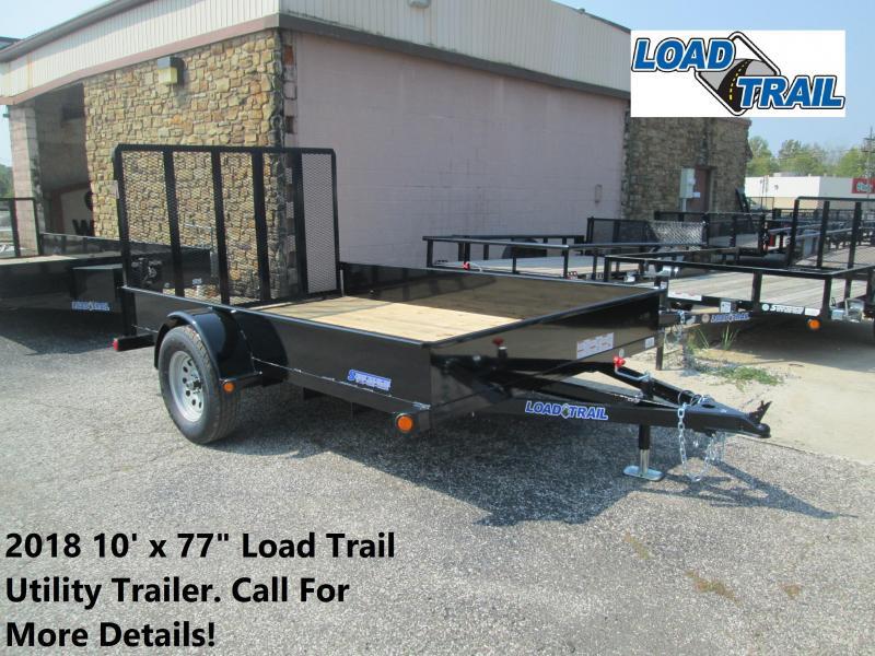 "2018 10' x 77"" Load Trail Utility Trailer. 46559"