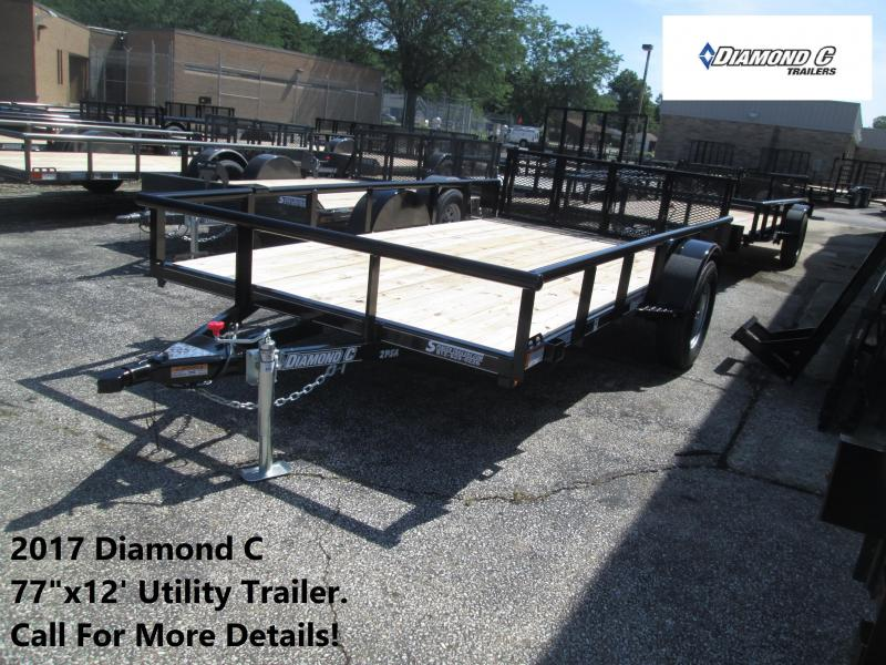 2017 77x12 Diamond C Utility Trailer. 88630