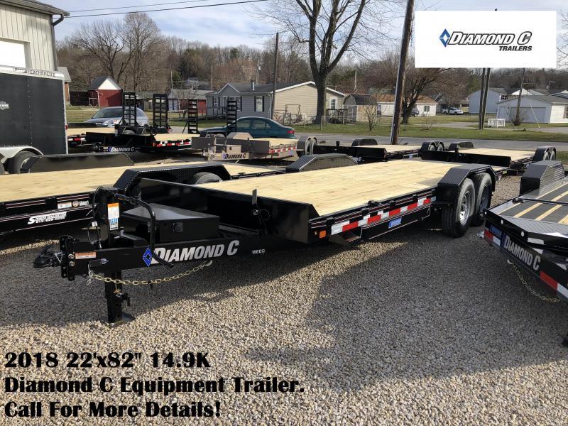 "2018 22'x82"" 14.9K Diamond C Equipment Trailer. 98056"