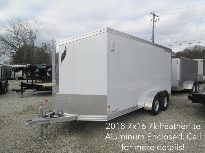 2018 7x16 7k Featherlite Aluminum Enclosed. 147706
