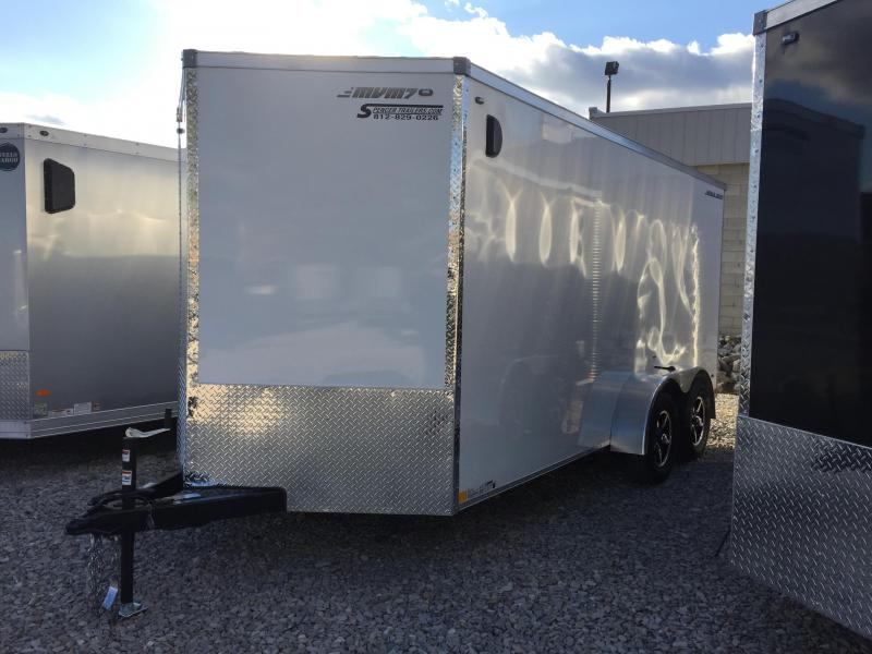 2018 7' x 16' 7K MVM7 Enclosed Trailer. 948