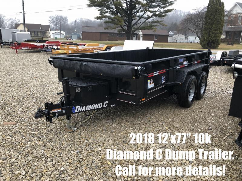"""2018 12' x 77"""" 10K Diamond C Dump Trailer. 96486"""