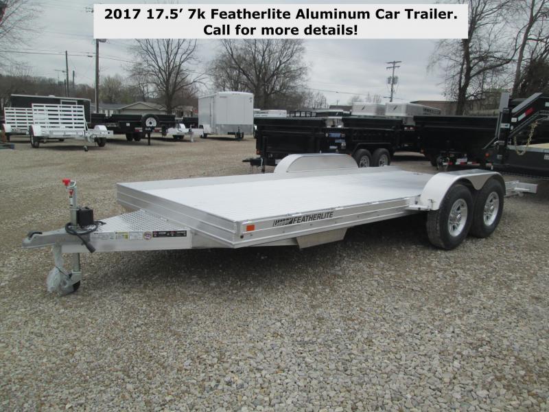 2017 17.5' 7k Featherlite Aluminum Car Trailer. 145705
