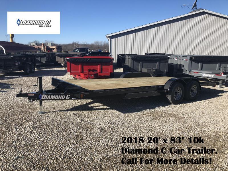 """2018 20' x 83"""" 10k Diamond C Car Trailer. 97435"""