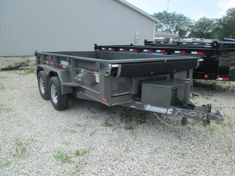 2017 12x77 9890lb GVWR Diamond C Dump Trailer. 90964