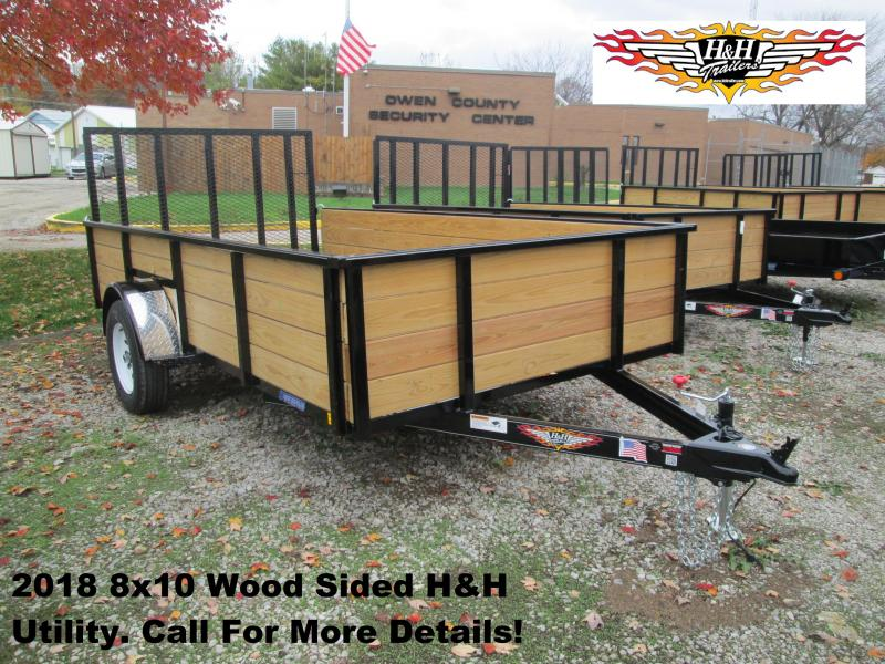 2018 8' x 10' Wood Sided H&H Utility. 76523
