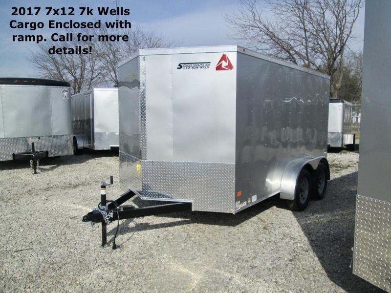 2017 7x12 7k Wells Cargo with ramp. 42428