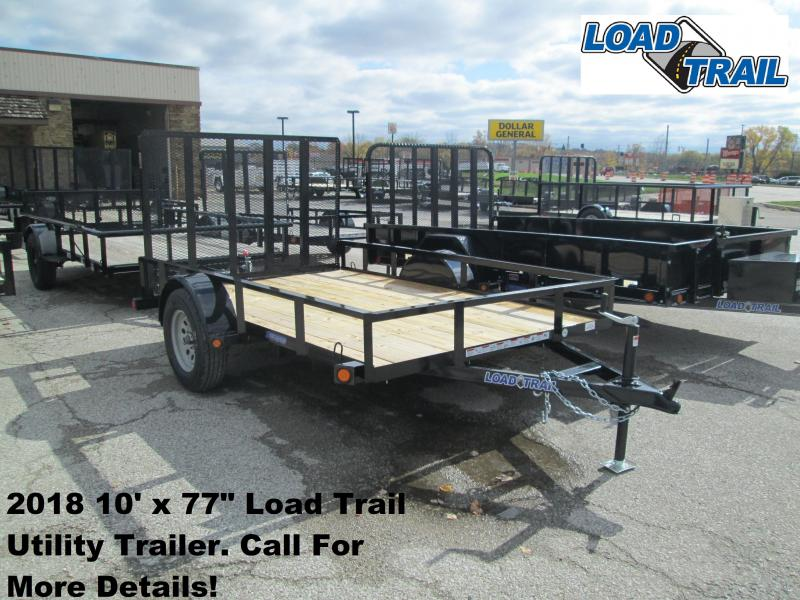 "2018 10' x 77"" Load Trail Utility Trailer. 50352"