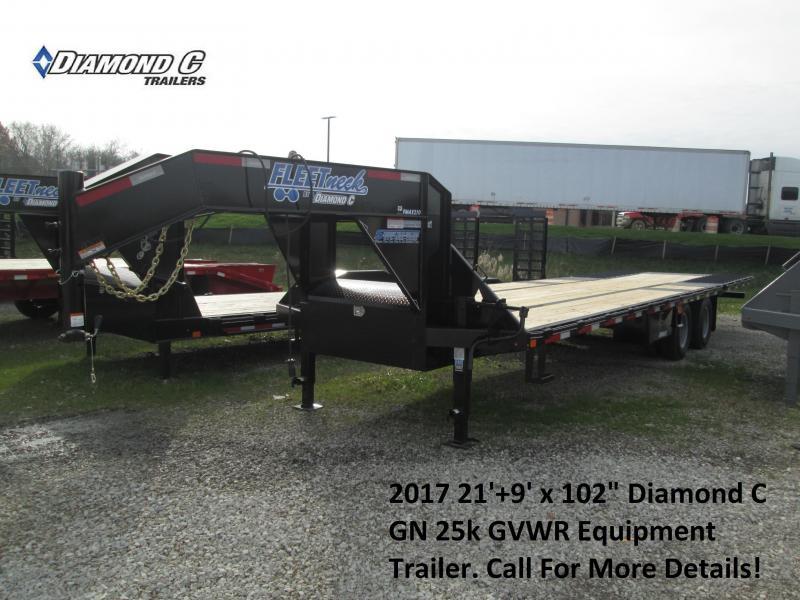 "2017 102""x21+9 25k Diamond C Gooseneck Equipment Trailer. 93005"