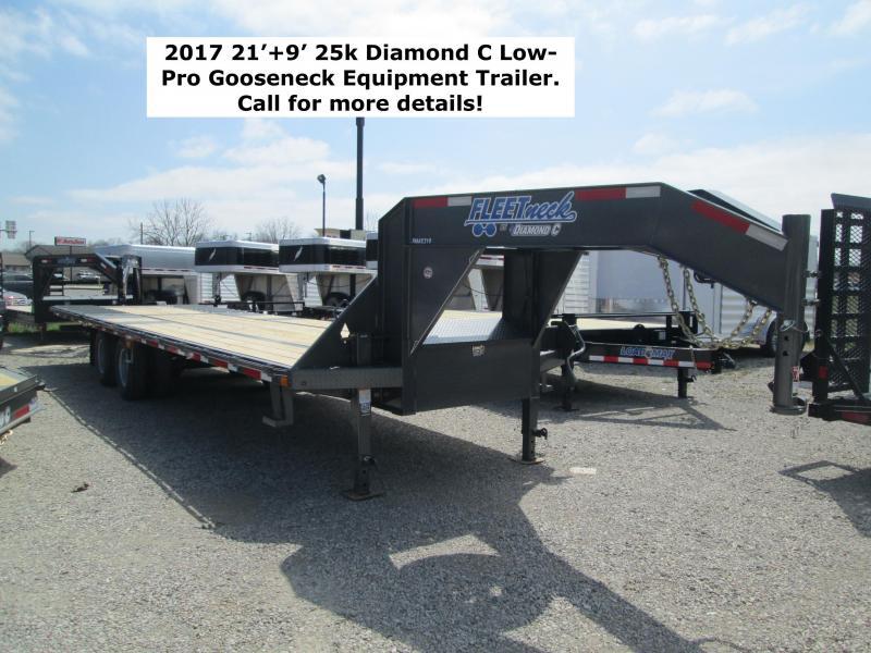 2017 21'+9' 25k Diamond C Low-Pro Gooseneck Equipment Trailer. 85562