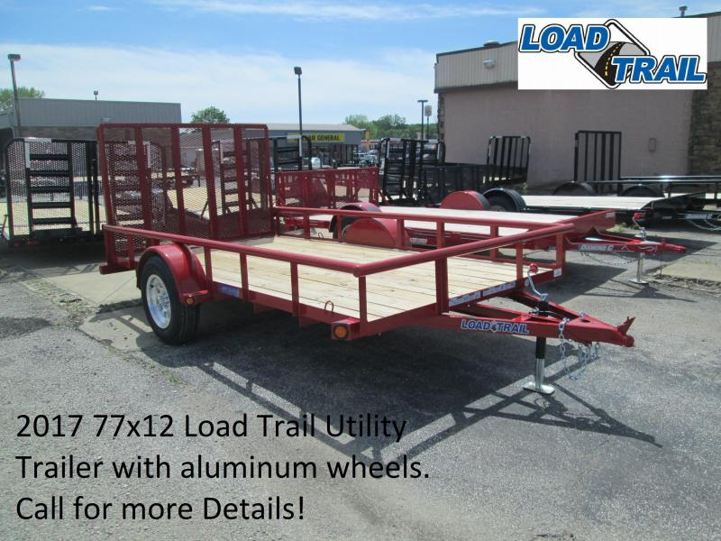 2017 77x12 Load Trail Utility with aluminum wheels. 35951