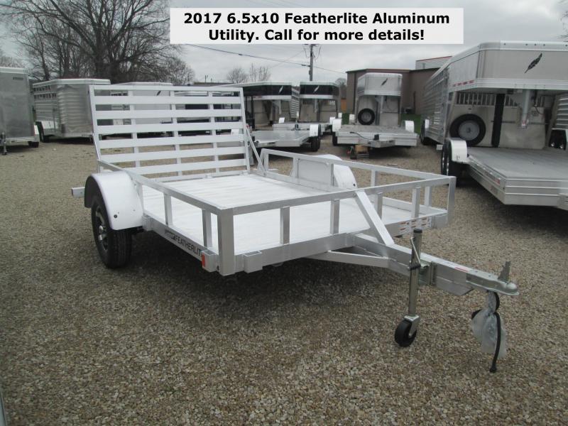 2017 6.5x10 Featherlite Aluminum Utility. 145708