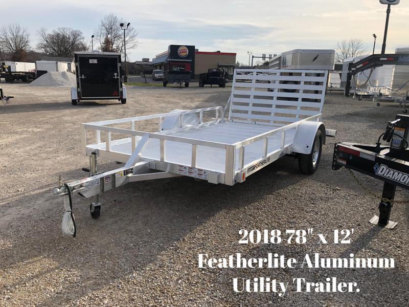 """2018 78"""" x 12' Featherlite Aluminum Utility Trailer. 147879"""