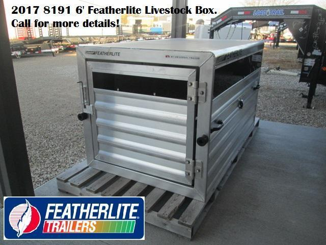 2017 8191 6' Featherlite Livestock Box. 143195