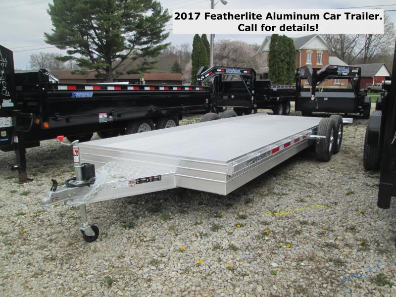2017 22' 14k Featherlite Aluminum Car Trailer. 145703