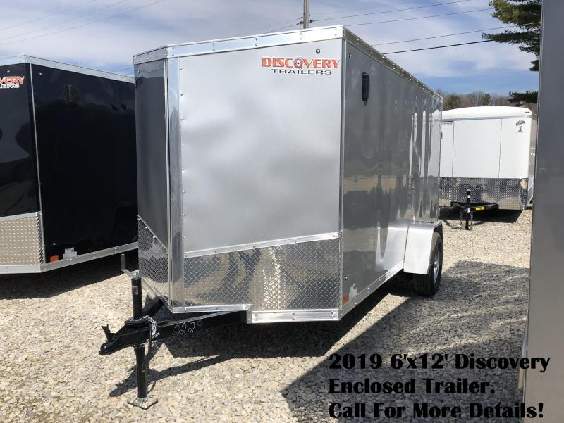 2019 6'x12' Discover Enclosed Trailer. 2229