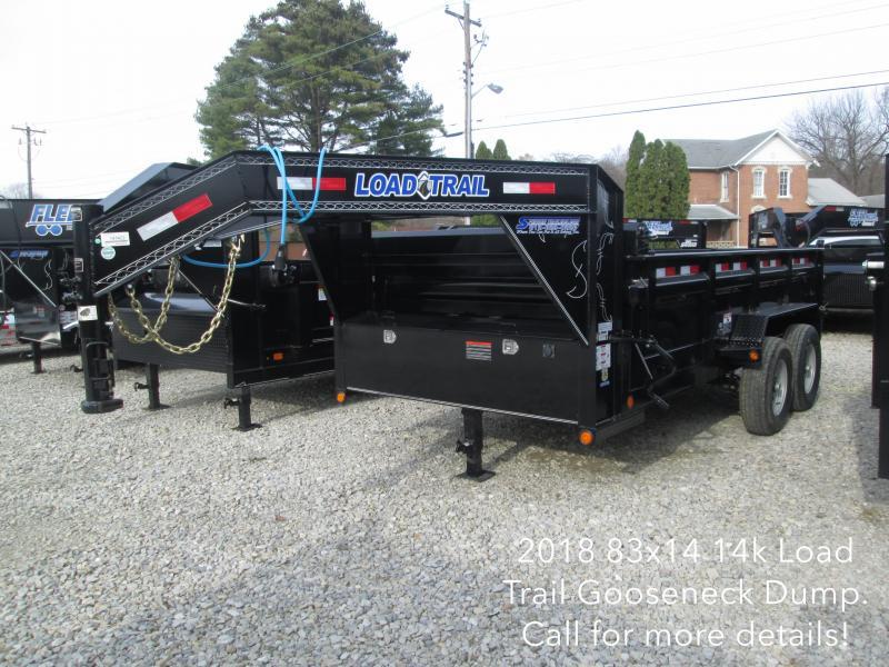 "2018 83""x14' 14k Load Trail Gooseneck Dump Trailer. 47422"