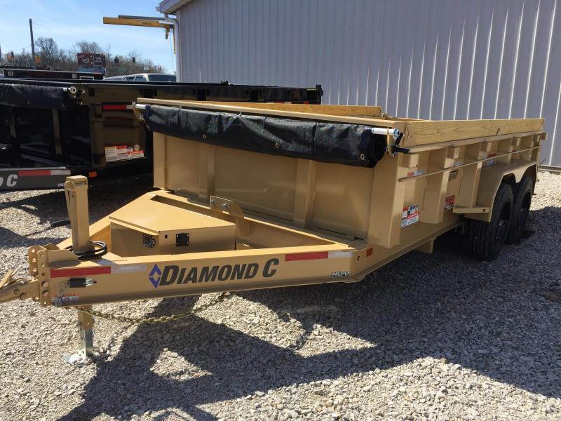 2018 Diamond C 14x82 14.9k GVWR Dump Trailer. 97896