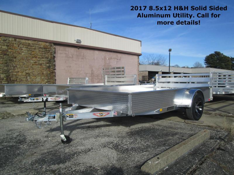 2017 8.5x12 H&H Solid Sided Aluminum Utility. 68813