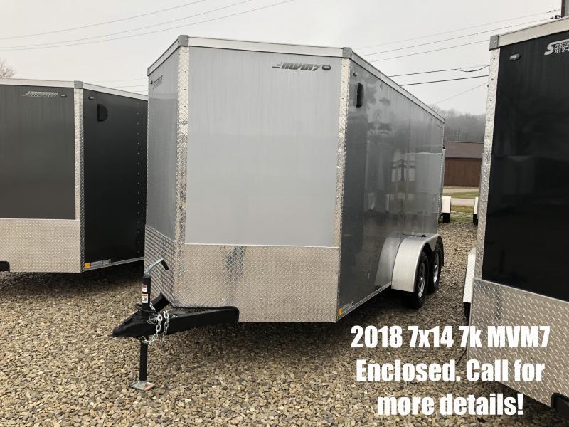 2018 7x14 7K MVM7 Enclosed Trailer. 1162