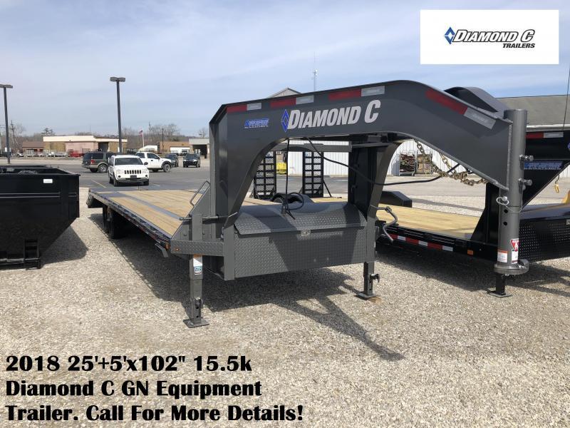 """2018 25'+5'x102"""" 15.5k Diamond C GN Equipment Trailer. 96943"""