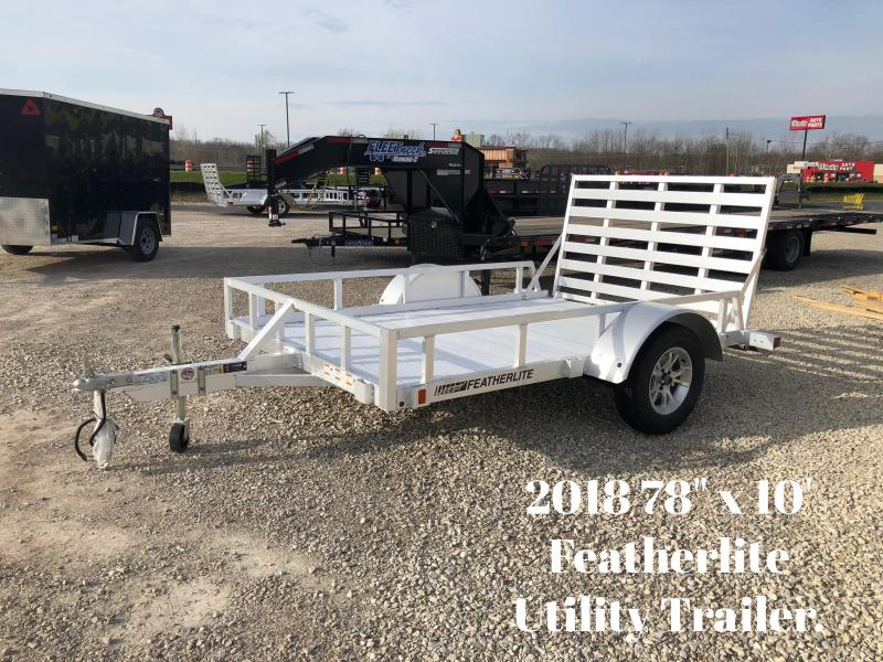 "2018 78"" x 10' Featherlite Utility Trailer. 147883"