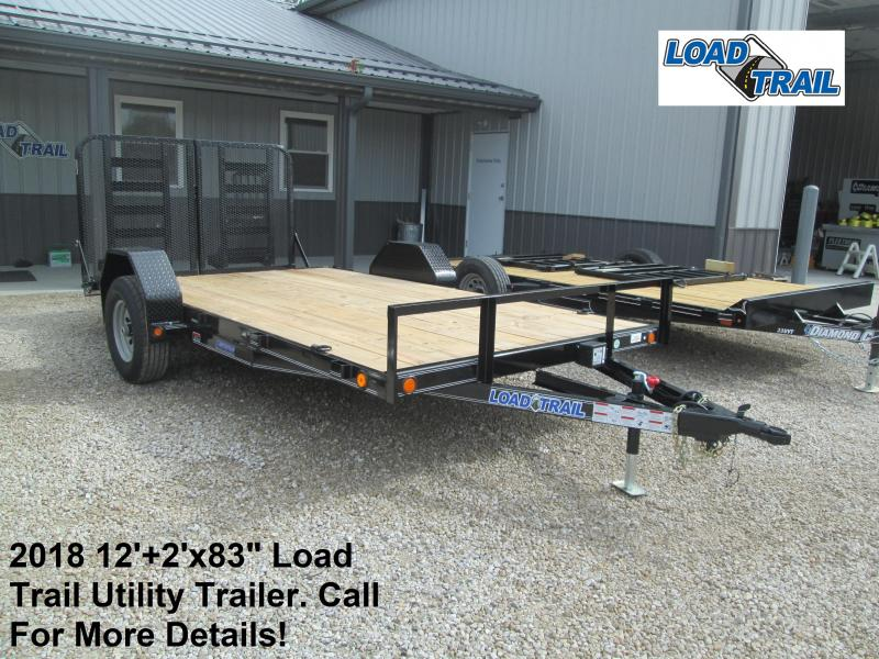 "2018 83"" x 12'+2' Load Trail 5.2K Utility Trailer. 48807"