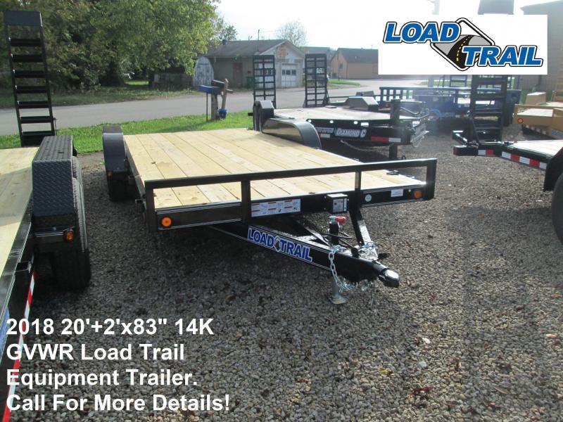 "2018 20'+2'x83"" 14K GVWR Load Trail Equipment Trailer. 49201"