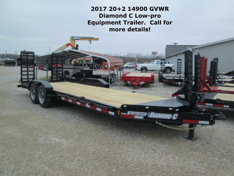 2017 20+2 14900 GVWR Diamond C Low-Pro Equipment Trailer. 86154